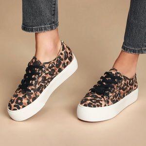 NWT Steve Madden Emmi Leopard Platform Sneakers